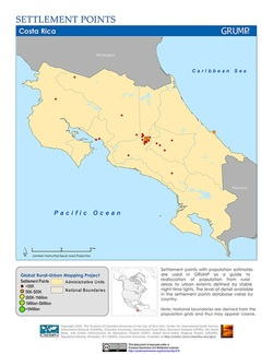 Population and Settlement  Costa Rica